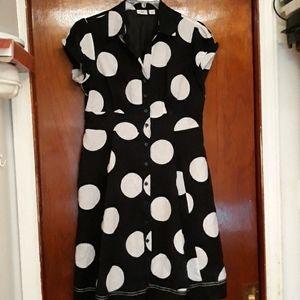 Cato Dresses - Catos black dress with white polka dots 16